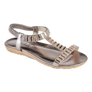 Womens Panache Pewter Sandals